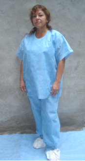 Disposable SMS Scrub Shirts & Scrub Pants
