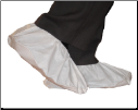 Polycoated Non-Skid Vinyl Sole Disposable Shoe Covers