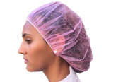 PROTECTO Pink Polypropylene Bouffant Caps 100 Caps OUT OF STOCK