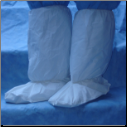 Polycoated Non-Skid Vinyl Sole Disposable Boot Covers