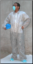 Gray Polypropylene Disposable Coveralls