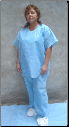 Disposable Scrub Shirts & Scrub Pants Set BACK IN STOCK  BUY NOW MADE IN THE USA!